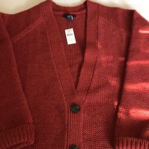 New with tags Gap sweater button cardigan/coat.